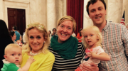Family from Michigan with Representative Debbie Dingell (D-MI) at Strolling Thunder™.fix
